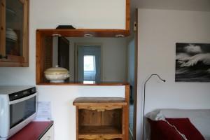 Au 1er niveau : Salon Cuisine, 1 chambre double, 1 SDDouche avec WC