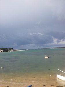 Vue de la mer depuis nos gîtes en Bretagne